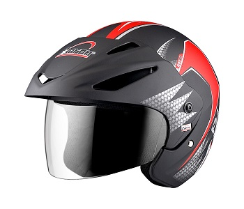 Apex Warrior -AH Helmet -Red-Front View