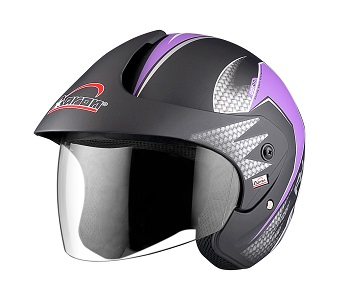 Apex Wow-AH Helmet -Purple-Front View
